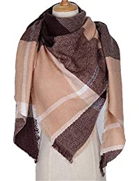 AFBLR Col écharpe châle Écharpe à carreaux femme imitation écharpe triangle  en cachemire automne ... b28211fb6a0