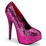Bordello Luxus-Glitter-Pumps Teeze-06G hot pink Gr. 39