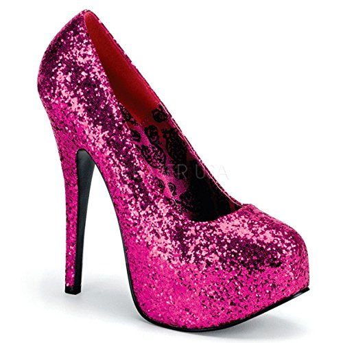 Bordello Luxus-Glitter-Pumps Teeze-06G hot pink Gr. 39