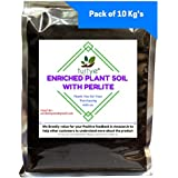 [Sponsored Products]TURTYE® Enriched Organic Plant Soil With Perlite - 10 Kg's - For Terrace/Balcony/Rooftop Gardening Plants