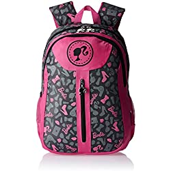 Barbie Nylon 38 cms Pink and Grey Children's Backpack (Age group :3-5 yrs)