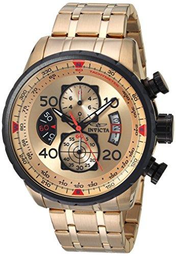 Invicta Aviator Men's Chronograph Quartz Watch with Stainless Steel Bracelet – 17205