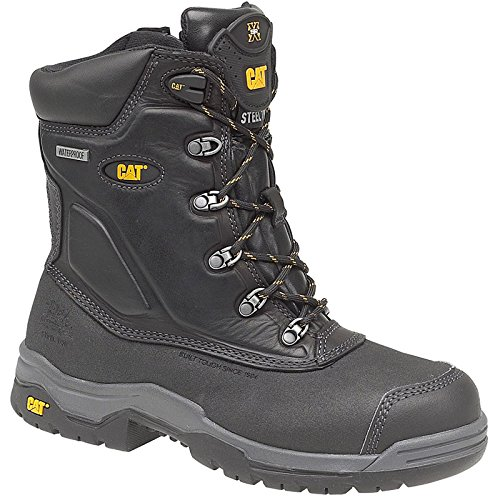 Caterpillar Mens Supremacy Safety Work Boots Black Black