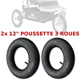 2x CHAMBRE A AIR POUSSETTE 3 ROUES 12' TYPE RED CASTLE SHOP'N JOGG DISC NEUF