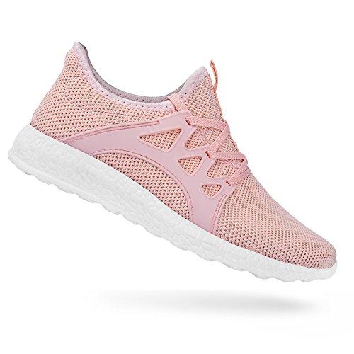 QANSI Damen Herren Sportschuhe Laufschuhe Sneaker Atmungsaktiv Leichte Wanderschuhe
