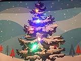 Árbol de Navidad Musical Felpudo de Navidad con luces LED 60x 40cm decoración de interior.