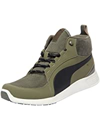 Puma Men's St Trainer Evo Demi V2 Corduroy Olive Sneakers - 6 UK/India (39 EU)(36615601)