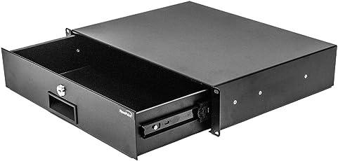 "NavePoint Server Cabinet Case 19"" Rack Mount DJ Locking Lockable Deep Drawer with Key 2U"