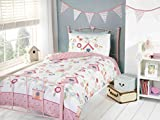 Best Home Collection Bird Houses - Rapport Birds Houses Duvet Multi, Polyester-Cotton, Multi-Colour, Double Review