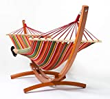 Best Hammock With Stands - Tortola Wooden Hammock Stand With Summer Multi-Stripe Hammock Review