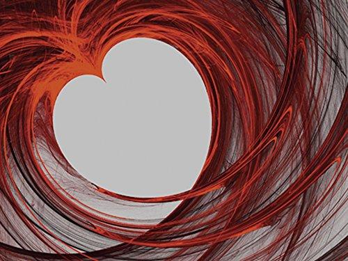 Artland Qualitätsbilder I Bild auf Leinwand Leinwandbilder Wandbilder 40 x 30 cm Liebe Erotik Herzen Digitale Kunst Bordeauxrot B2ZB Blutendes Herz (Blutendes Herz)