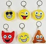 BUSDUGA - Emoji Schlüsselanhänger 6 verschiedene Gesichter , wählbar (Kackhaufen)