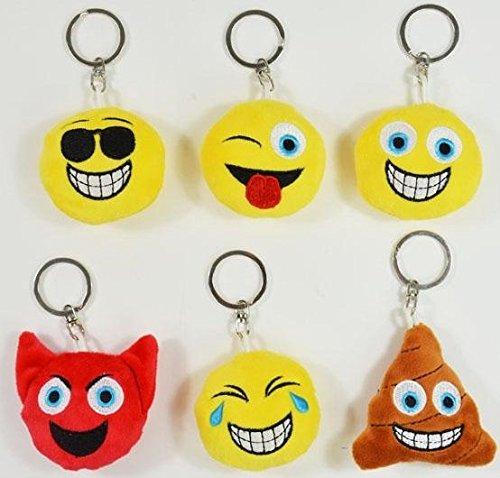 BUSDUGA - Emoji Schlüsselanhänger 6 verschiedene Gesichter , wählbar (Sonnenbrille)