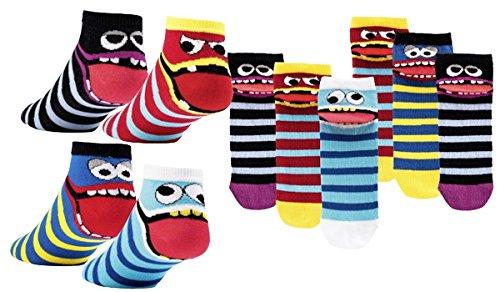C&C KIDS Kinder Socken,6Pack,31/34,Freche Bande/Kurzsocken