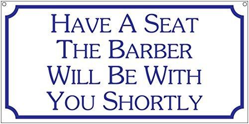 PeteGray Haben Eine Sitz der Friseur Werden mit Sie Kürze Barber Stylisten Aluminium Schild Metall Schilder Metall blechschild Wandschild 12x 6Weihnachts Geburtstag Geschenke