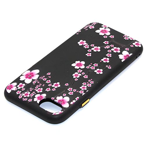 iPhone 7 Plus Case,August 3D Emboss Pattern Flower TPU Soft Case Rubber Silicone Skin Cover for iPhone 7 Plus A7