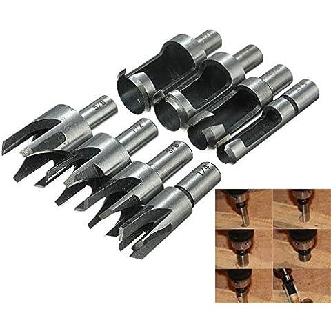 8pcs legno Plug Cutter Diritto Tipo / Tapered Artiglio Drill