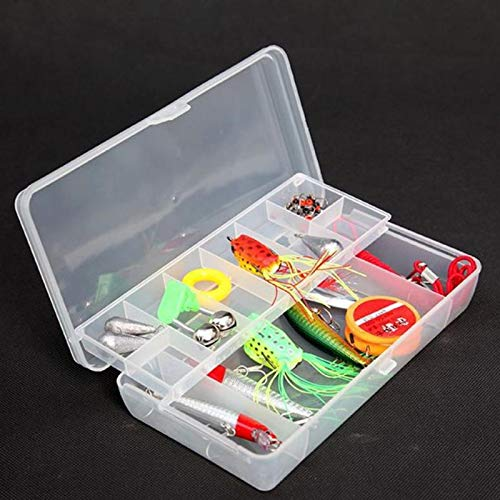 Storage Boxes Bins - Plastic Tray Compartments Fishing Lure Organize Case Tackle Box Two Sided Storage Cases Hand - Boxes Storage Bins Storage Boxes Bins Fish Tray Lure Cover Doll Shelf -