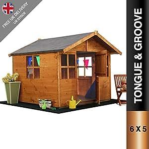 6x5 Mad Dash Lollipop Childrens Wooden Playhouse