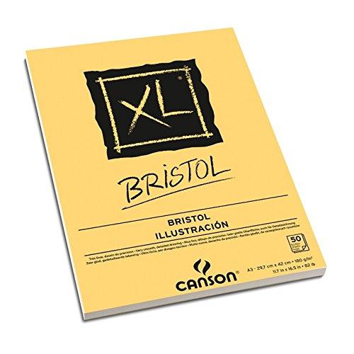 canson-bloc-colle-xl-bristol-extra-lisse-250g-m-50-feuilles-a3