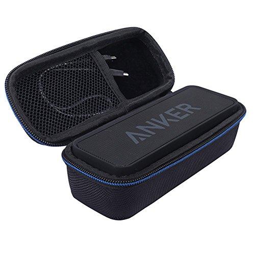 Freebily EVA Schutz Hülle Tragetasche Schutztasche Stoßfest Hart Fall Reise Box Case Hülle für Anker SoundCore Mobiler Bluetooth Lautsprecher