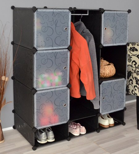 ts-ideen Steckregal Steckschrank Stecksystem plug-in Kleiderschrank Garderoben Flur Dielen Schuh Schrank Barschrank Kinderschrank