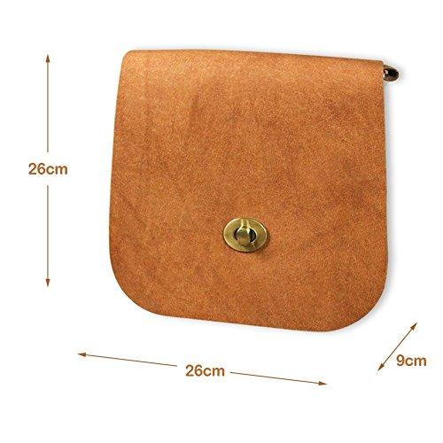 Mena UK Satchel di cuoio handmade classico delle donne 26cm * 26cm * 9cm-Mena UK Design ( Colore : Khaki , dimensioni : 26cm*26cm*9cm ) Khaki