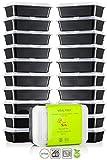 Chef' S STAR 1vano riutilizzabile, contenitori per alimenti con coperchi-935,5gram-senza BPA-adatto al microonde-lavabile in lavastoviglie-impilabile-10per confezione-set di 2