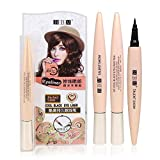 Aolvo Wasserdichter Eyeliner Stift, Super Slim Eyeliner Bleistift Stay All Day Eye Liner Gel Wasserdicht Wischfest Filzspitze Eyeliner Pen Schwarz