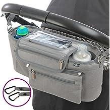 BTR - Bolsa para bebe para carrito de bebé con bolsillo desmontable con cremallera y monedero