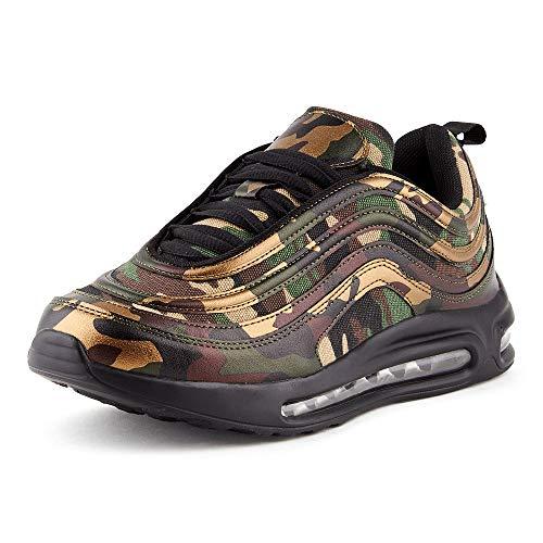Fusskleidung Herren Damen Sportschuhe Sneaker Dämpfung Turnschuhe Jogging Gym Unisex Camo 2 EU 42 -
