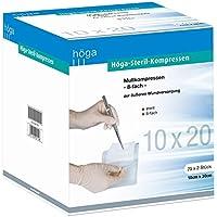 Höga Steril-Kompressen, sterile Mullkompressen - 10 x 20 cm - 25x2 Stück, steril, 8-fach, EN 14079-Typ 17 preisvergleich bei billige-tabletten.eu