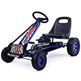 COSTWAY Kids Go Kart Ride On Car Toys Race Pedal Rubber Wheels Children