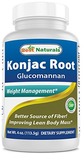 Glucomannan Konjac Root Powder 4 OZ by Best Naturals (Glucomannan 100% Pure Powder) – Supports Healthy Weight Management