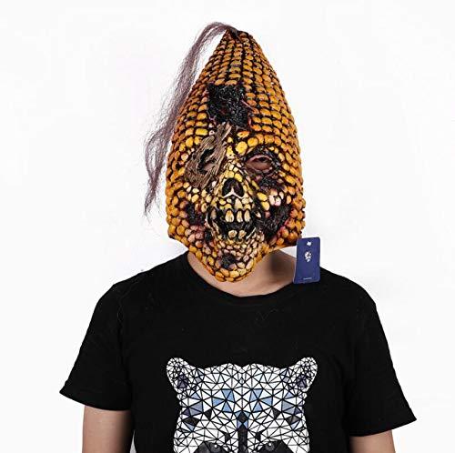 WXFC Maschera di Halloween, Maschera in Lattice Testa di Mais Maschera per Bar Party casa stregata Dance Party Atmosfera Puntelli Cultura del Partito