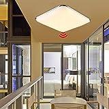 YESDA Deckenlampe Deckenleuchte LED Sensor Leuchte mit Bewegungsmelder Radar (12W Warmweiß)