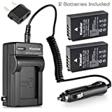 Kastar Battery (2-Pack) And Charger Kit For Nikon EN-EL20, Nikon EN-EL20a Work With Nikon Coolpix A, Nikon 1 AW1, Nikon 1 J1, Nikon 1 J2, Nikon 1 J3, Nikon 1 S1, Nikon 1 V3, Blackmagic Pocket Cinema