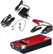 Einhell Auto-Starthilfe – CC-JS 8 (3 x 2500 mAh, Energiestation, Jump Starter, Mobile Stromversorgung, LiPo-Akku, Ladezustandsanzeige, Starthilfeeinrichtung)