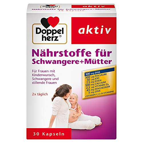 Doppelherz Nährstoffe für Schwangere + Mütter - Bei Kinderwunsch, in der Schwangerschaft oder Stillzeit - 1 x 30 Kapseln
