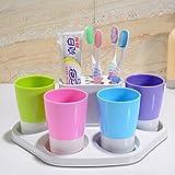 Zahnbürste halter und absaugung tasse zahnbürste rack wand zähne bank set sucker automatische zahnpastaspender zähneputzen tasse-A