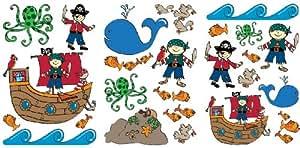 Pirates 50 Piece Quick Sticks Wall Stickers