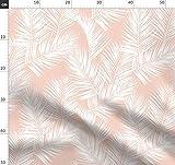 Palmenblätter, Palmen, Blassrosa, Hell Pink, Weiß,
