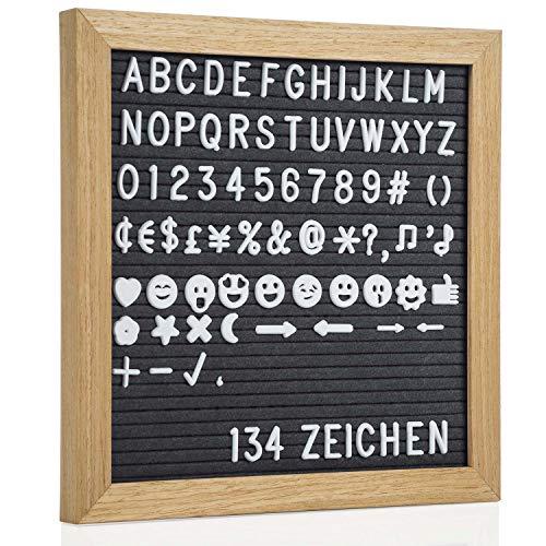 Goods & Gadgets Tablero Letras Madera 27 cm - Pizarra