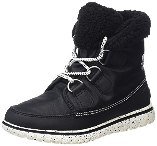 Sorel Cozy Carnival, Scarpe da Ginnastica Alte Donna, Nero (Black, Sea Salt 010Black, Sea Salt 010), 38 EU