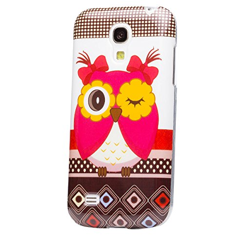 Samsung Galaxy S4 MINI | flores iCues Diseño caso de TPU búho búho búho niñas | Señoras de las mujeres de las muchachas de gel de silicona adorno del modelo de piel protectora de protección [protector de pantalla, incluyendo] Cubierta Cubierta Funda Carcasa Bolsa Cover Case