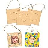 Kleine Bilderrahmen zum Aufhängen und Bemalen und Dekorieren für Kinder - toll als Dekoration - 8 Stück