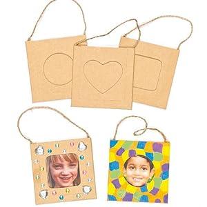 Kleine Bilderrahmen zum Aufhängen und Bemalen und Dekorieren für Kinder – toll als Dekoration – 8 Stück