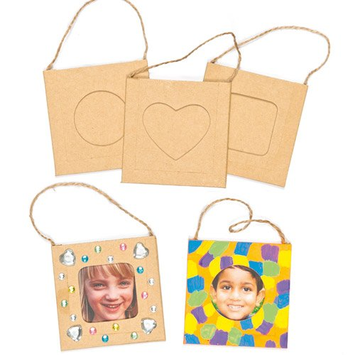 Baker Ross Design Your Own Hanging Photo Frames (Pack of 12) For Kids to Decorate and Display