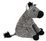 Carousel Home and Gifts, Türstopper, im dekorativen Zebra-Design, aus Stoff, Schwarz-Weiß gestreift