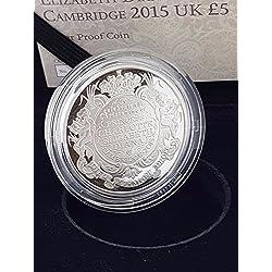 Eclectic Shop Uk 2015Royal Mint Naissance Princesse Charlotte Argent Proof Cinq légère Coin Box COA